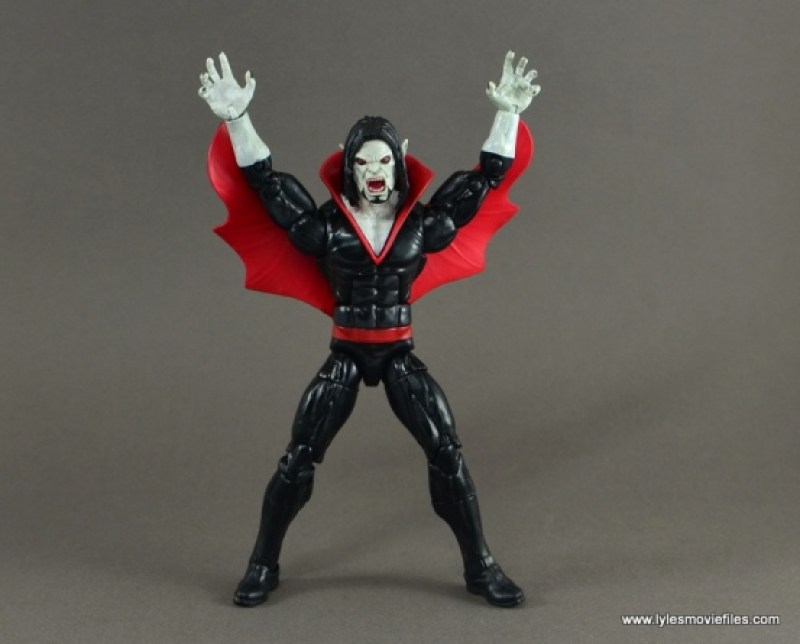 Marvel Legends Morbius figure review - cape up