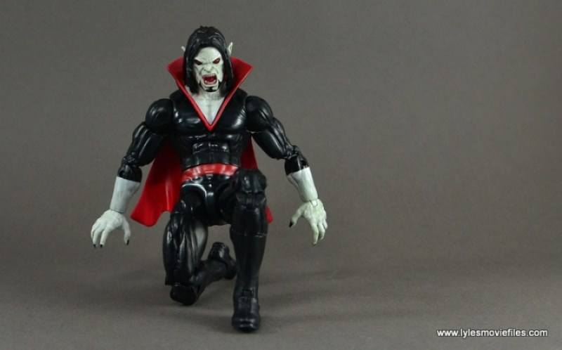Marvel Legends Morbius figure review - kneeling