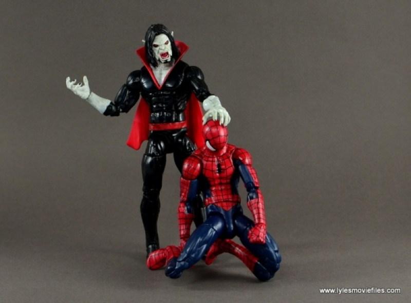 Marvel Legends Morbius figure review - subduing Spider-Man