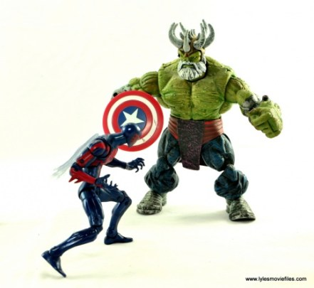 Marvel Legends Spider-Man 2099 figure review - face off with Maestro