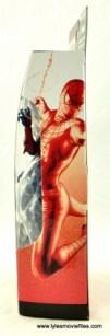 Marvel Legends Spider-Man 2099 figure review -package side
