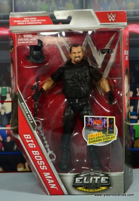 WWE Elite Big Boss Man figure review - front package