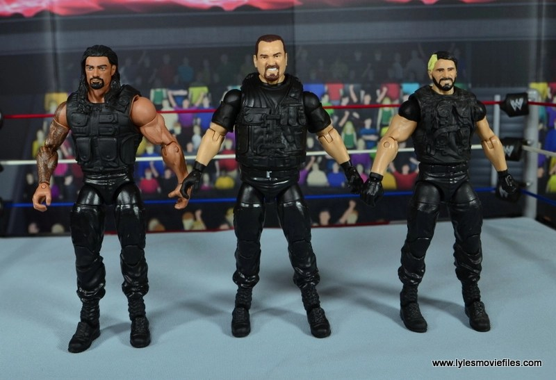 WWE Elite Big Boss Man figure review - scale with The Shield