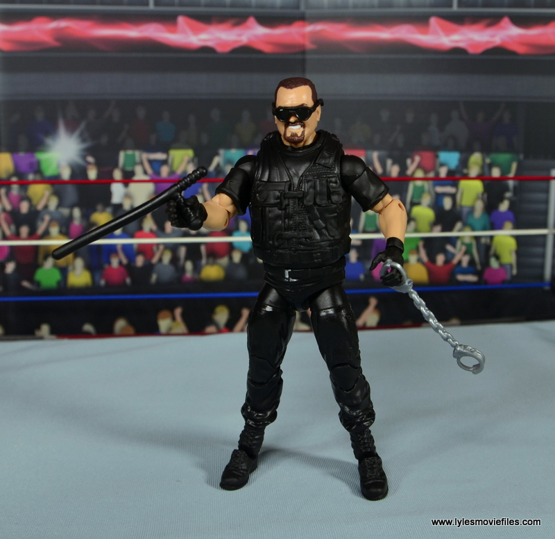 WWE Elite Big Boss Man figure review - with nightstick and handcuffs