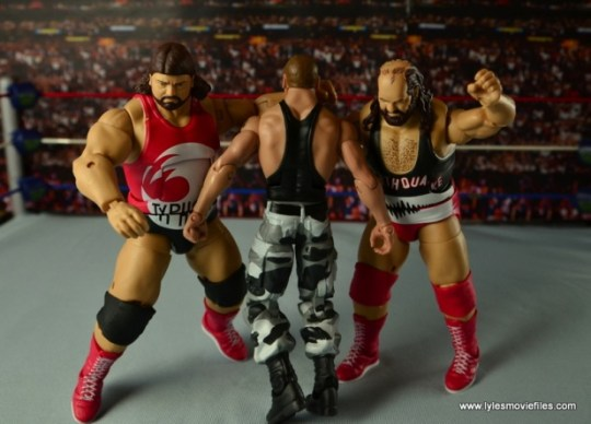 WWE Elite Natural Disasters figure reviews -double clothesline Butch