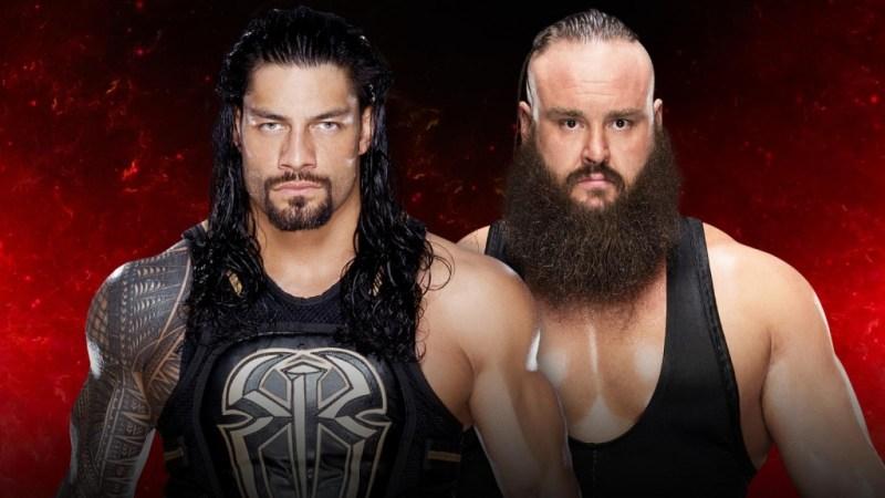 WWE Fastlane 2017 - Roman Reigns vs Braun Strowman