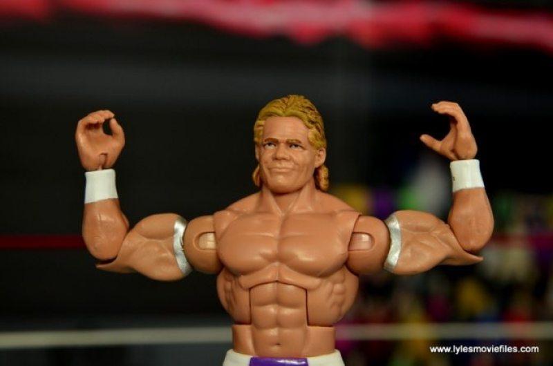WWE Narcissist Lex Luger figure review - arms up flex