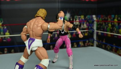 WWE Narcissist Lex Luger figure review - forearm smash to Bret Hart