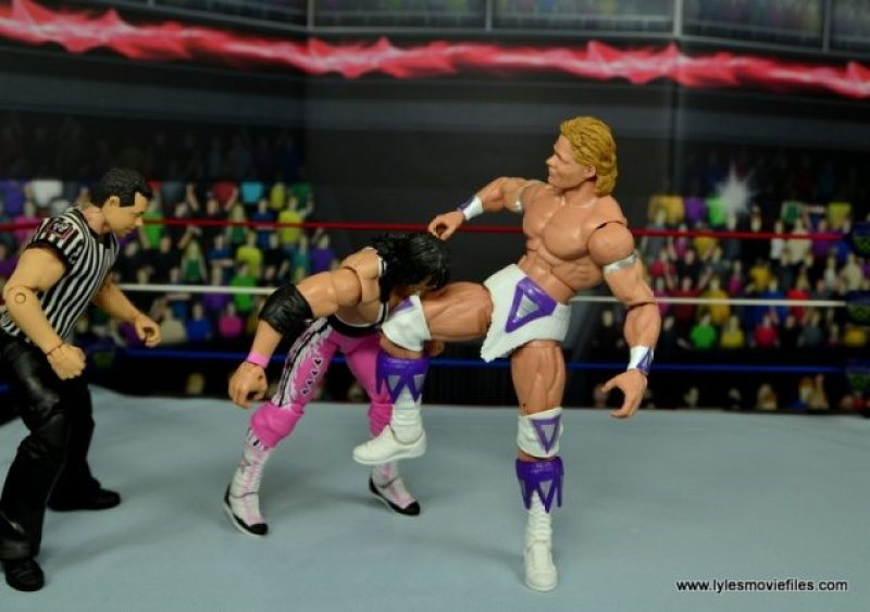 WWE Narcissist Lex Luger figure review - knee smash to Bret Hart
