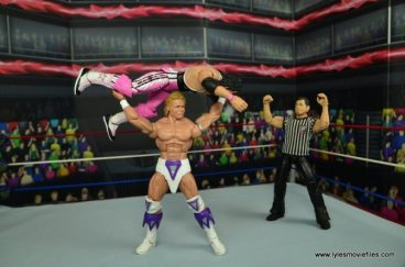 WWE Narcissist Lex Luger figure review - press slam Bret Hart