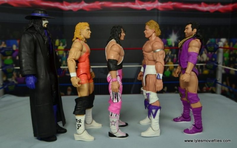 WWE Narcissist Lex Luger figure review - scale with The Undertaker, Mr. Perfect, Bret Hart and Razor Ramon