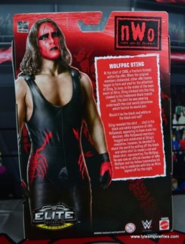 WWE Wolfpac Sting figure review -package rear