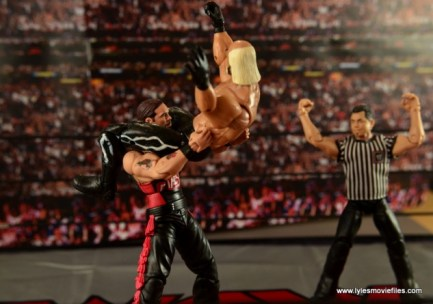 WWE nWo Wolfpac Kevin Nash Elite figure review -jacknife powerbomb Hollywood Hogan