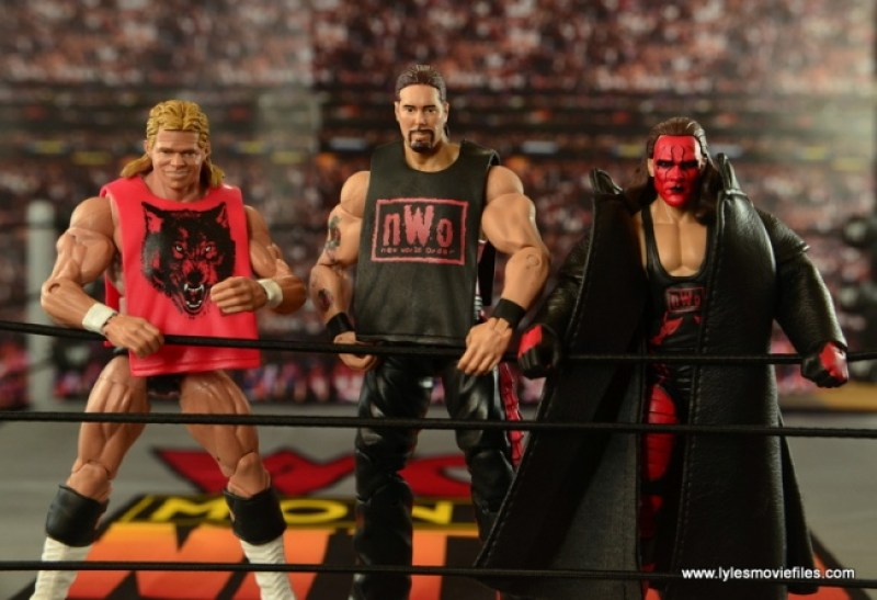 WWE nWo Wolfpac Kevin Nash Elite figure review - with Luger and Sting