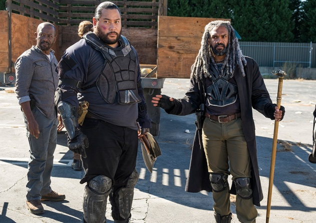 the-walking-dead-bury me here - morgan, jerry and king ezekiel