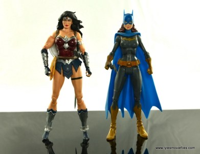 DC Icons Wonder Woman figure review -scale with DC Classics Batgirl
