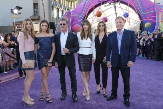 Guardians of the Galaxy Vol. 2 Hollywood premiere -Sylvester Stallone and Jennifer Flavin and daughters