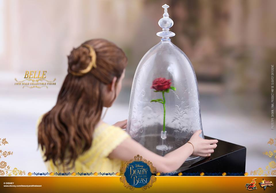 Hot toys debuts beauty and the beast belle figure with for Rose under glass