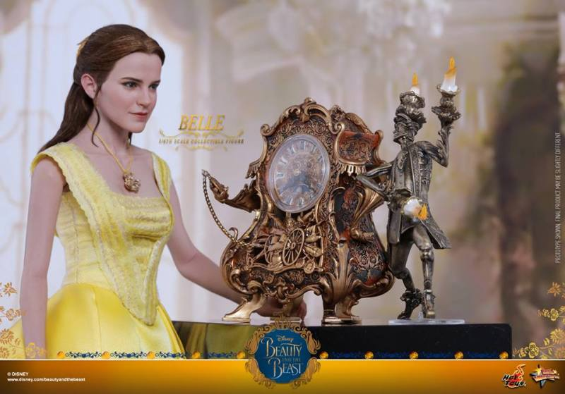Hot Toys Beauty and the Beast Belle figure -with clock and candalabra