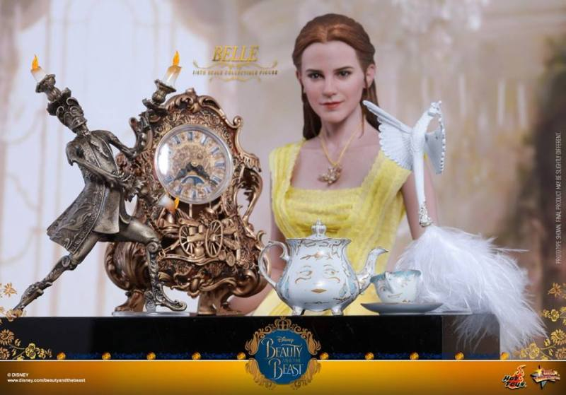 Hot Toys Beauty and the Beast Belle figure -with her pals