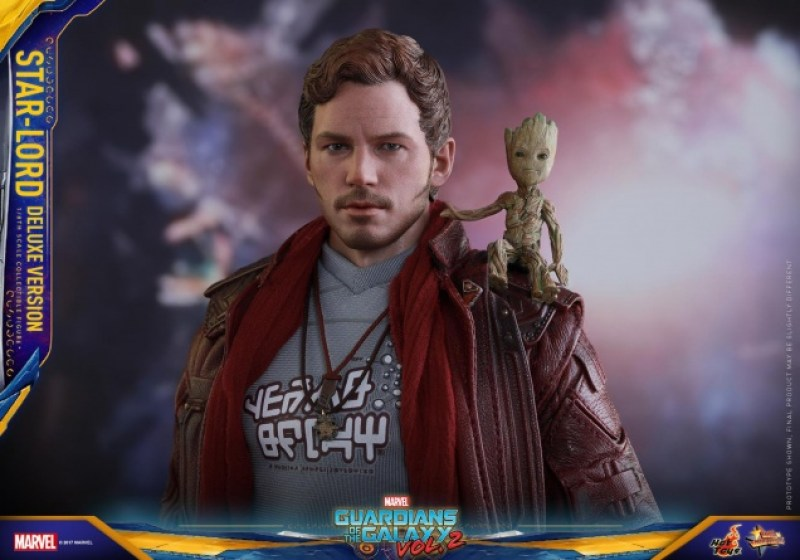 Hot Toys Guardians of the Galaxy Vol. 2 Star-Lord deluxe figure -with Baby Groot