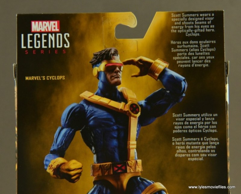 Marvel Legends Cyclops figure review -bio