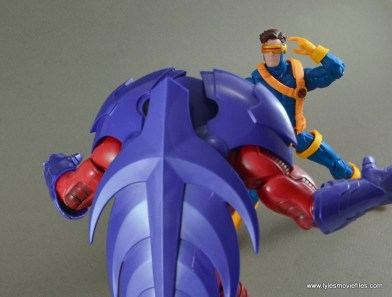 Marvel Legends Cyclops figure review -face off with Onslaught