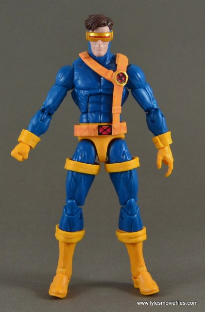 Marvel Legends Cyclops figure review -front