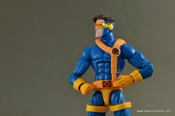 Marvel Legends Cyclops figure review -looking out