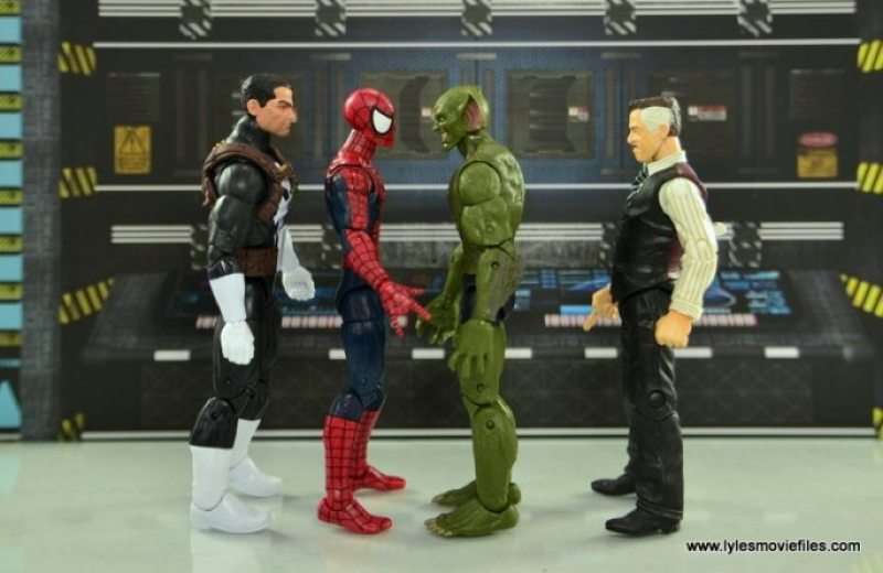 Marvel Legends Jackal figure review -scale with Punisher, Spider-Man, and J Jonah Jameson