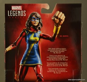 Marvel Legends Ms. Marvel figure review -bio