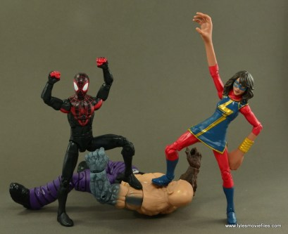 Marvel Legends Ms. Marvel figure review -with Miles Morales