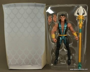 Marvel Legends Namor figure review - accessories and inner lining