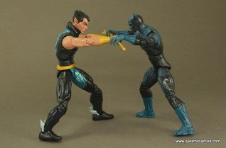 Marvel Legends Namor figure review -battling Black Panther for trident