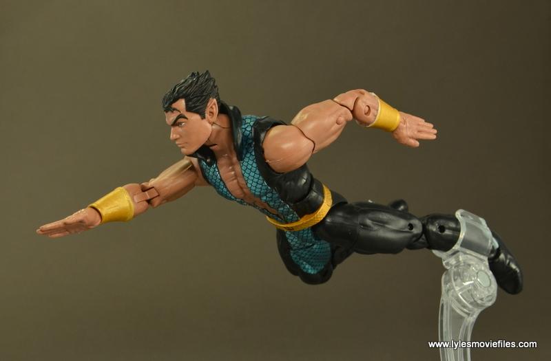 Marvel Legends Namor figure review -swimming