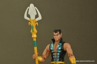 Marvel Legends Namor figure review -trident close up