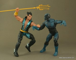 Marvel Legends Namor figure review - vs Black Panther