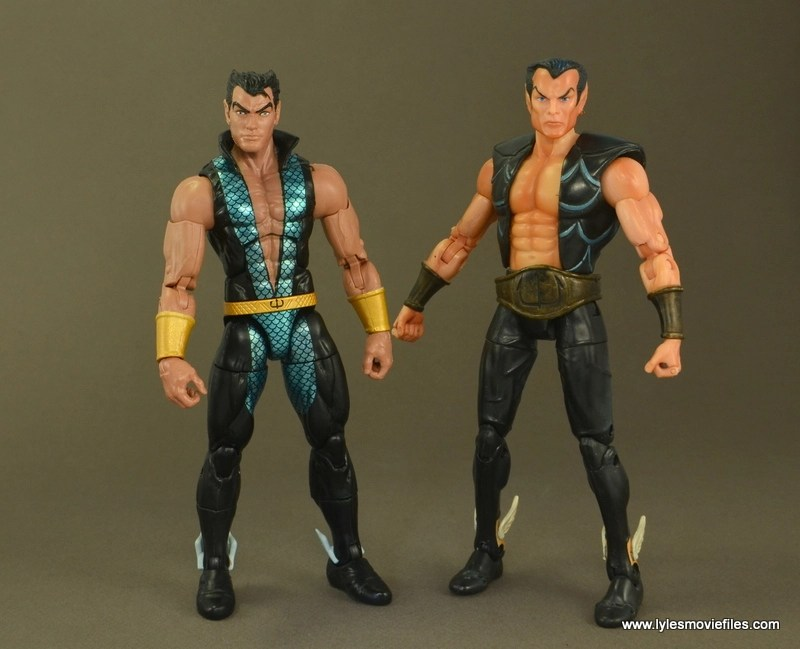 Marvel Legends Namor figure review - with Toy Biz Namor