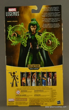 Marvel Legends Polaris figure review - package rear