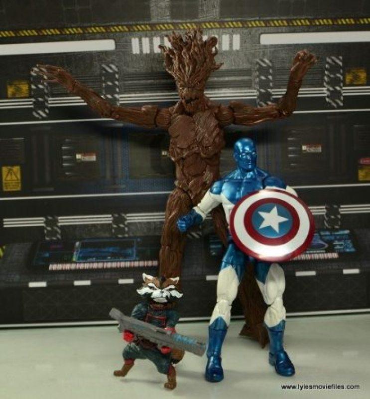 Marvel Legends Vance Astro figure review - Rocket, Groot and Vance