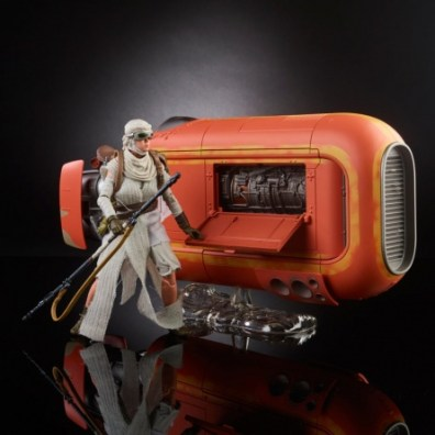 Star Wars Black Rey and speeder - right side
