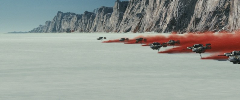 Star Wars Episode VII - The Last Jedi trailer images - red trail