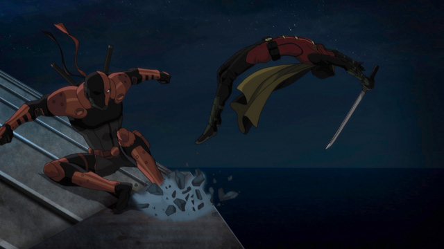 Teen Titans The Judas Contract - Deathstroke vs Damian Wayne Robin
