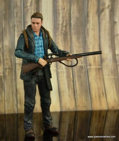 The Walking Dead Aaron figure review -holding rifle side