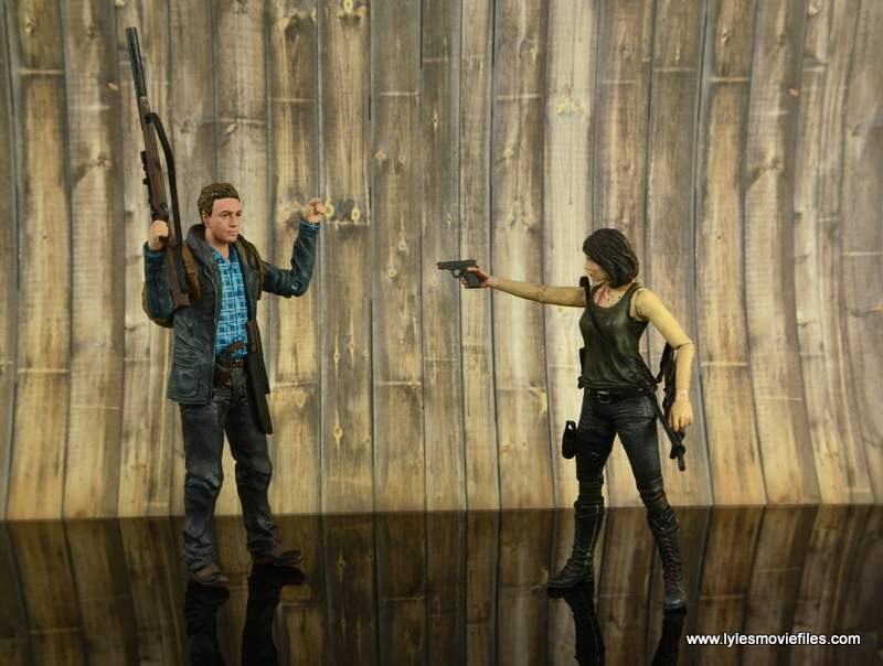 The Walking Dead Aaron figure review -meeting Maggie