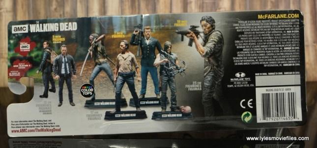 The Walking Dead Aaron figure review -package rear