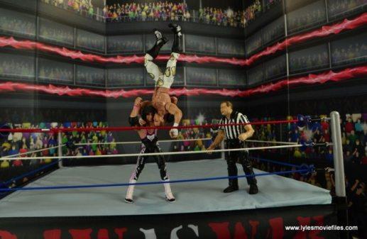WWE Wrestlemania 12 Elite Shawn Michaels figure review - Bret suplexing Shawn