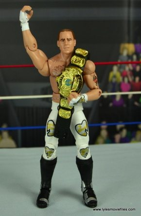 WWE Wrestlemania 12 Elite Shawn Michaels figure review -holding WWF title