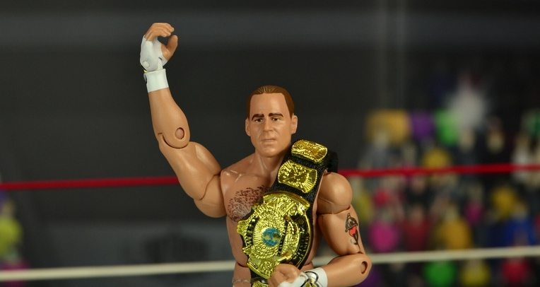 WWE Wrestlemania 12 Elite Shawn Michaels figure review -main pic
