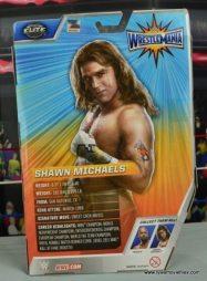 WWE Wrestlemania 12 Elite Shawn Michaels figure review -package rear
